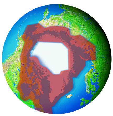 Qpanimals Polar Bear - Map of where polar bears live